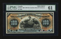 Canadian Currency: , Toronto, ON- The Canadian Bank of Commerce $100 1898 Ch. 75-14-57SSpecimen. ...