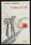 Books:First Editions, Robert A. Heinlein. The Menace from Earth. Hicksville: GnomePress, [1959]. First edition. Octavo. 255 pages. Publis...