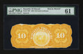 Large Size:Demand Notes, Republic of Hawaii $10 Gold Certificate of Deposit 1895 (1899)Series B Pick 7bp Back Proof. ...