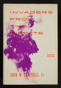 Books:First Editions, John W. Campbell, Jr. Invaders From the Infinite.Hicksville, New York: Gnome Press, [1961]. First edition. Octavo....