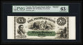 Canadian Currency: , Halifax, NS- The Peoples Bank $20 May 25, 1864 Ch. # 580-10-02FPFace Proof. ...