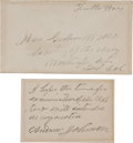 Autographs:U.S. Presidents, Andrew Johnson Autograph Note Signed...