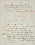 "Autographs:Military Figures, Josiah Tattnall Undated General Order Document Signed ""Josiah Tattnall"". One page, 7.75"" x 10"", no place indicated, unda..."