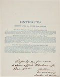 """Military & Patriotic:Civil War, Stephen Clegg Rowan Document Signed. One page, printed, 7.75"""" x 9.75"""", dated April 14, 1862, appended in manuscript """"Respe..."""