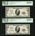 National Bank Notes:Wisconsin, Viroqua, WI - $10 1929 Ty. 2 The First NB Ch. # 8529. ... (Total: 2 notes)