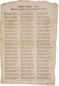 "Miscellaneous:Broadside, Carrier's Address Broadside: ""New Year's Gift, Addressed to thePatrons of the New Hampshire Patriot."" ..."