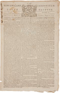 Miscellaneous:Newspaper, [Conscientious Objectors] Newspaper: New-England Chronicle orthe Essex Gazette. ...