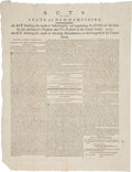 Miscellaneous:Broadside, [George Washington] Acts of the State of New HampshireBroadside. ...