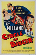 Memorabilia:Poster, Circle of Danger Movie Poster (Eagle Lion, 1951)....