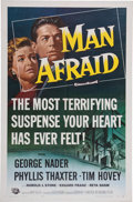 Memorabilia:Poster, Man Afraid Movie Poster (Universal International, 1957)....