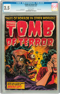 Golden Age (1938-1955):Horror, Tomb of Terror #15 (Harvey, 1954) CGC GD+ 2.5 Off-white pages....