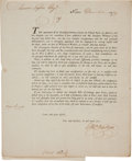 Autographs:Military Figures, Revolutionary War: Elkanah Watson Letters (2) to Aaron Lopez.... (Total: 2 Items)