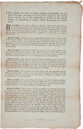 Autographs:Military Figures, Maryland Militia Bill of 1793....