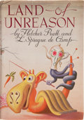 Books:Signed Editions, Fletcher Pratt and L. Sprague de Camp. Land of Unreason. NewYork: Henry Holt, [1942]. First edition. Inscribed by...