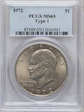 Eisenhower Dollars, 1972 $1 Type One MS65 PCGS. PCGS Population (275/4). Numismedia Wsl. Price for problem free NGC/PCGS co...