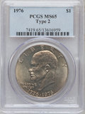 Eisenhower Dollars: , 1976 $1 Type Two MS65 PCGS. PCGS Population (1478/409). NGC Census: (1278/292). Mintage: 113,318,000. Numismedia Wsl. Price...