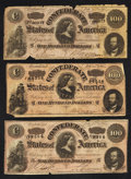 Confederate Notes:1864 Issues, T64 $500 1864 Three Examples. . ... (Total: 3 notes)