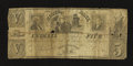 Obsoletes By State:Indiana, Indianapolis, IN- State Bank of Indiana Spurious $5 circa 1850. ...