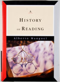 Books:First Editions, Alberto Manguel. A History of Reading. [New York]: Viking,[1996]. First edition, first printing. Octavo. Publisher'...