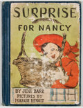Books:Children's Books, Jene Barr. Surprise For Nancy. Chicago: Whitman, [1950].Octavo. Publisher's binding with rubbing and light wear ext...