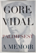 Books:Signed Editions, Gore Vidal. INSCRIBED. Palimpsest. New York: Random House, [1995]. First edition, first printing. Inscribed by Vid...