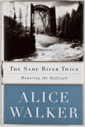 Books:Signed Editions, Alice Walker. INSCRIBED. The Same River Twice. New York: Scribner, [1996]. First edition, first printing. Inscribe...