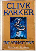 Books:Signed Editions, Clive Barker. INSCRIBED. Incarnations. [New York]: HarperPrism, [1995]. First edition, first printing. Inscribed b...