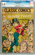 Golden Age (1938-1955):Classics Illustrated, Classic Comics #23 Oliver Twist - First Edition (Gilberton, 1945)CGC VG/FN 5.0 Cream to off-white pages....