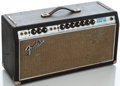 Musical Instruments:Amplifiers, PA, & Effects, Late 1960's Fender Bandmaster Reverb Black Amplifier Head#A41824...