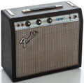 Musical Instruments:Amplifiers, PA, & Effects, 1970's Fender Champ Black Guitar Amplifier #A845354...