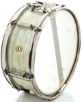 Musical Instruments:Drums & Percussion, 1960's Ludwig Snare Drum White MOTS #153485...