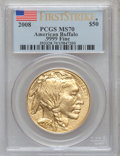 Modern Bullion Coins, 2008 G$50 American Buffalo First Strike MS70 PCGS. .9999 Fine. PCGSPopulation (1313). NGC Census: (0)....
