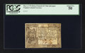 Colonial Notes:Virginia, Virginia May 4, 1778 (Dates Printed) $15 PCGS About New 50.. ...