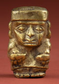 American Indian Art:Pottery, Mochica Hollow Gold Man...