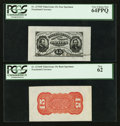 Fractional Currency:Third Issue, Fr. 1275SP/Fr. 1276SP 15¢ Third Issue Wide Margin Pair PCGS Very Choice New 64PPQ and PCGS New 62.. ... (Total: 2 notes)