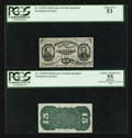 Fractional Currency:Third Issue, Fr. 1272SP 15¢ Third Issue Narrow Margin Pair PCGS About New 53 and PCGS Apparent Choice About New 55.. ... (Total: 2 notes)