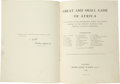 Books:Signed Editions, H. A. Bryden, General Editor. Great and Small Game of Africa. An Account of the Distribution, Habits, and Natu...