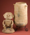 American Indian Art:Pottery, Impressive Rio Magdalena Urn... (Total: 2 Items)