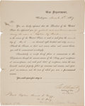Autographs:U.S. Presidents, Ulysses S. Grant Military Document Signed...