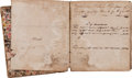 Autographs:Military Figures, Slavery: Store Ledger Recording Slave Accounts in 1838....