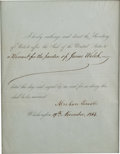 Autographs:U.S. Presidents, Abraham Lincoln Document Signed....
