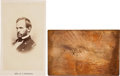 Autographs:Military Figures, William T. Sherman Calling Card Copper Plate and Carte deVisite.... (Total: 2 Items)