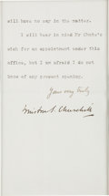 Autographs, Winston Churchill Typed Letter Signed ...