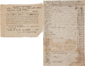 Autographs:Statesmen, Slavery: Estate of John Glover... (Total: 2 Items)