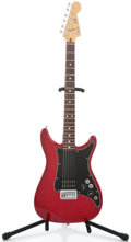 Musical Instruments:Electric Guitars, 1981 Fender Lead I USA Trans Red Solid Body Electric Guitar #E114924...
