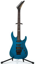Musical Instruments:Electric Guitars, 1980's Kramer Pacer Custom II Blue Solid Body Electric Guitar #F6265...