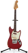 Musical Instruments:Electric Guitars, 1965 Fender Mustang Dakota Red Solid Body Electric Guitar#L51625...