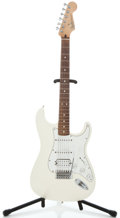 Musical Instruments:Electric Guitars, 2003 Fender Stracocaster MIM White Solid Body Electric Guitar#MZ3166205...