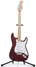 Musical Instruments:Electric Guitars, 1999 Fender Stratocaster MIM Burgundy Metallic Solid Body ElectricGuitar #MN9333872...