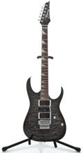 Musical Instruments:Electric Guitars, Ibanez RG4 EX1 Trans Black Quilt Solid Body Electric Guitar#I070548162...